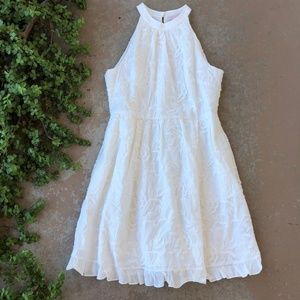 Ted Baker Lorene Halter Neck Embroidered Dress